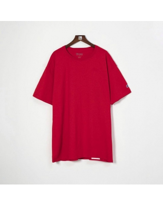 CHAMPION TAGLESS BASIC LOGO TEE - RED